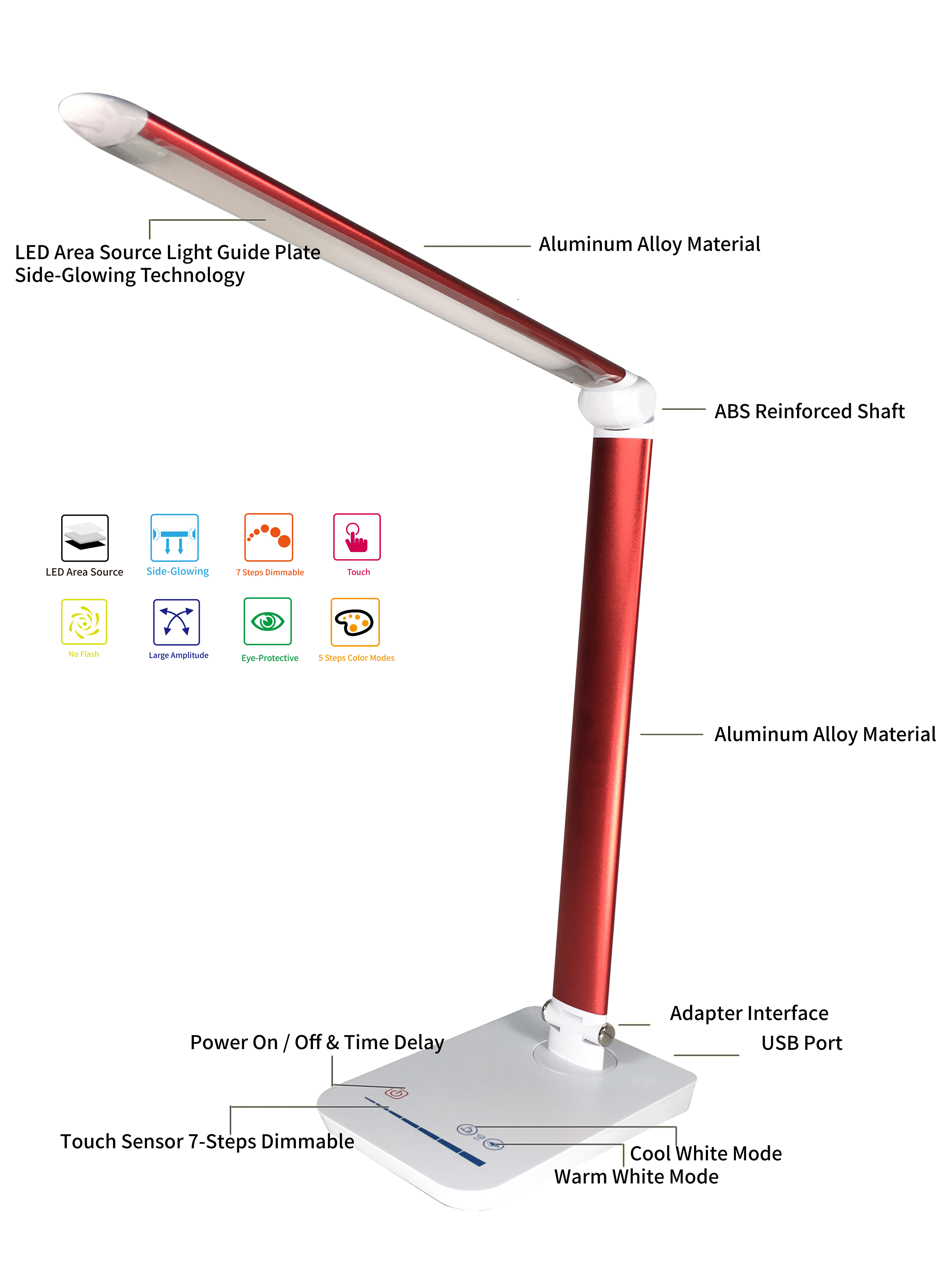 promotion led desk lamp