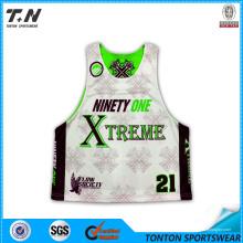 Custom Sublimated reversível Lacrosse Mesh Jersey