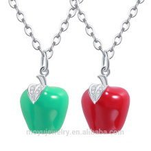 2015 wholesale austrian crystal christmas red /green Apple pendant
