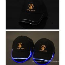 Chapeau de LED Beanie noir acrylique d'hiver avec la lumière