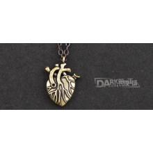 Женская Мода Сердце Кулон Ожерелье Ретро Свитер Цепи