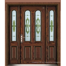 Puerta de acero blindada de Italia puerta del dormitorio proveedor de China (D4019)