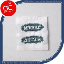 Etiqueta tejida del satén de las ventas al por mayor / etiqueta tejida de la ropa