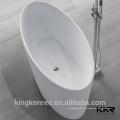 conceptions de salles de bains contemporaines surface solide Baignoire autoportante rouge