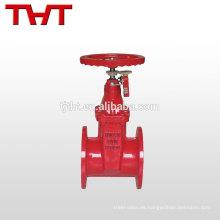 Conexión de brida de válvula de compuerta de acero fundido de señal de fuego