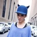 2014 New Fashion Cute Cat ears Pure wool hat Flat brim Fedoras Women Men Hat