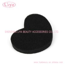 Esponja de limpieza de baño de la forma de corazón negro barato