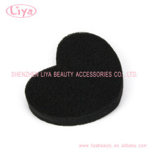 Cheap black heart shape bath cleaning sponge
