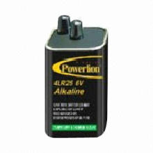 Alkaline Battery, 4LR25, 6V, Mercury-free