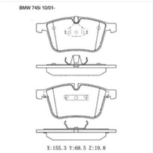 D918 Pastilla de freno para BMW 1 Coupé (E82) Pastilla de freno GDB1498 571990B