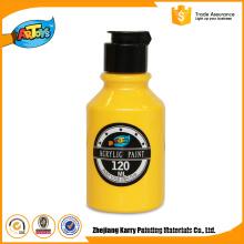 A pintura acrílica 120ML da garrafa feita sob encomenda amarela do estilo o mais atrasado passou a pintura acrílica