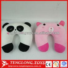 Cute forma animal travesseiro travesseiro travesseiro confortável carro pescoço