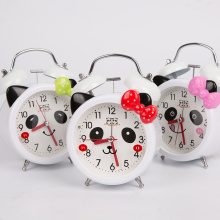 Cartoon wake up iron alarm clock