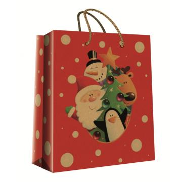 CHRISTMAS SERIES KRAFT GIFTBAG28-0