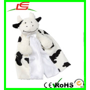 Black & White Cow Plush Baby Toys Blanket