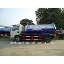 2015 Dongfeng 4x2 camiones de aspiración de aguas residuales, 6cbm camión aspirador