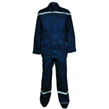 Flammhemmender Anzug aus Baumwolle mit Reflexstreifen