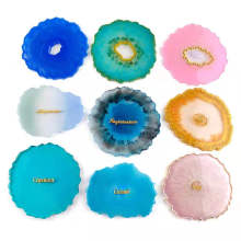 DIY Silicone Coaster Mold Resin Crafts Mold Wave Shaped Geode Coaster Silicone Mold For Epoxy Resin Craft DIY