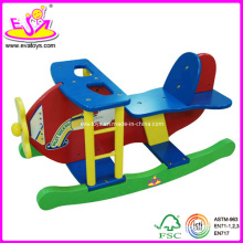 2014 New Airplane Style Wooden Kids Toy, Popular Colorful Wooden Children Toy, Hot Sell Wooden Rocking Horse Toy for Baby W16D001