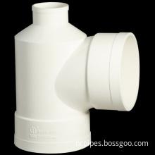 UPVC PVC Drainage Pipe Fittings Bottle Type Tee
