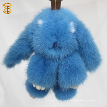 Custom Luxury Animal Mink Fur Keyring Bag Charm Fluffy Ball Keychain