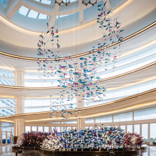 Araña de cristal de vestíbulo de restaurante personalizada originalidad