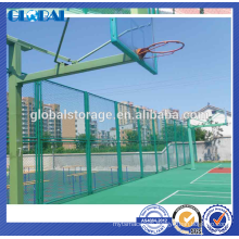 Green Powder coated steel security wire mesh fence for sportsground