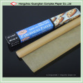 Rouleau de papier de cuisson brun non traité avec traitement au silicone