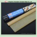 Rolo de papel de cozimento marrom não branqueado com silicone tratado