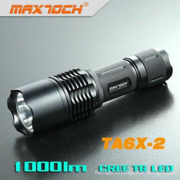 Maxtoch TA6X-2 Cree T6 26650 batería recargable aluminio LED antorcha