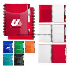 PP Covered Notebooks mit 70 Seiten für Firmensitzung