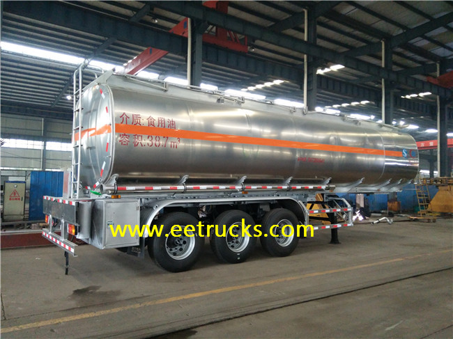 Stainless Steel Edible Oil Tank Trailers