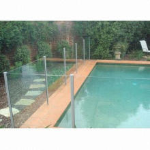 Aluminum Post Round Style R=50mm Pool Fence, Apply to 10mm Security Glass