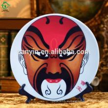 2015 platos personalizados de cerámica de estilo chino para la decoración del hogar