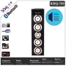 2017 Новая деревянная Крышка 45ВТ силы 6000mah Мультимедиа Bluetooth динамик шатер Lights5 сабвуферы