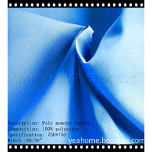 Polyester Shape Memory Fabrics for Jacket