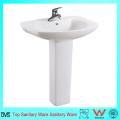 Lavabos de baño más populares Ceramic Hand Wash Pedestal Basin
