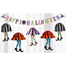 Halloween paper garland decoration