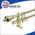 Square Double Curtain Pole Curtain Rod Curtain Finial