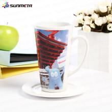 Sunmeta factory directly sublimation ceramic conic mug printing mug china supplier