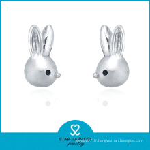 Résultats de boucles d'oreilles en argent sterling en forme d'animal de charme (E-0220)