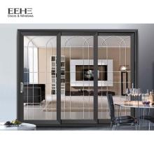 Thermal Aluminum Sliding Cross Patio Glass Doors