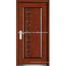 Puerta blindada de madera de acero de la fábrica, puerta de fuego de madera