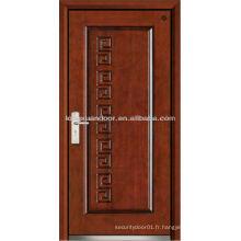 Porte blindée en acier acier blindé, porte coupe feu de bois