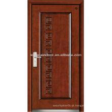 Fábrica de porta de aço blindada de madeira, porta de fogo de madeira