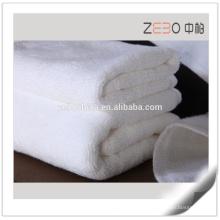 Pure White Custom Size Disponible Serviette de plage Cheap 21s Serviettes de bain