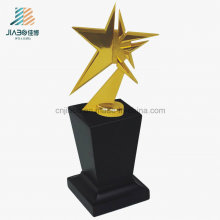Promotional Gift Alloy Custom Souvenir, Star Shape Gold Metal Trophy