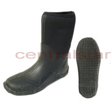 Fashion Black MID-Calf Neoprene Rubber Boots (RB011)