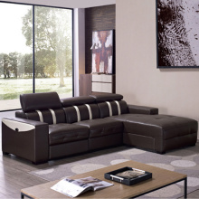 Genuine Leather Corner Couch Reclining Sectional Sofa