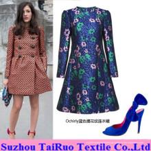 Jacquard Micro Suede com relevo para a Lady Fashion Clothes